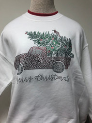 Stone Christmas Tree Truck Sweatshirt