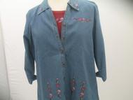 Petite Floral 3/4 Sleeve Shirt