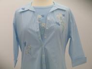 Sparkle Blue 3/4 Sleeve Shirt