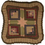 Tea Cabin Filled Pillow Quilted 16x16