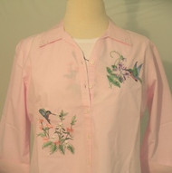 Grandma's Hummingbird 3/4 Sleeve Shirt