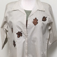 Leather Leaves 3/4 Sleeve Shirt