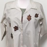 Leather Leaves 3/4 Sleeve Shirt