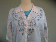 Peacock Teardrop 3/4 Sleeve Shirt