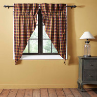 Primitive Check Prairie Curtain Lined Set of 2 63x36x18