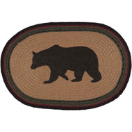 Wyatt Bear Jute Placemat Oval Set of 6 12x18