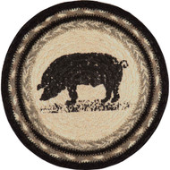 Sawyer Mill Pig Jute Trivet 8