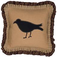 Primitive Crow Pillow 18x18