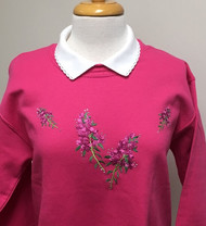 Fuchsia Flower Sweatshirt