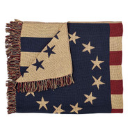 Old Glory Throw Woven 50x60