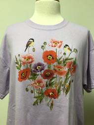 Chickadee Floral Tee