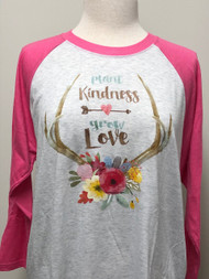 Grow Love 3/4 Raglan Sleeve Top
