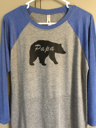 Papa Bear Raglan Sleeve Top