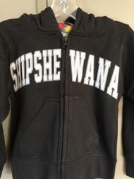 Black Shipshe Zip Hoodie (Youth)
