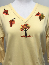 Fall V-Neck Top
