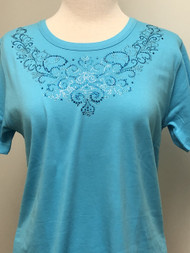 Vintage Swirl Scoop Neck Tee