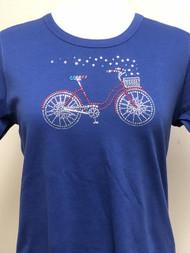 USA Bicycle Scoop Neck Tee