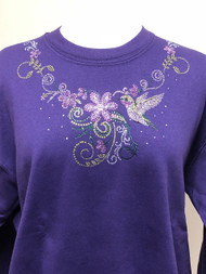 Hummingbird Flower Sweatshirt
