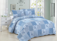 Blue Patch Queen Quilt SET