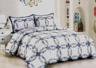 Romantic Wedding Ring Queen Quilt SET