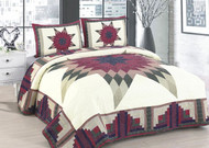 Cabin Star Queen Quilt SET
