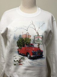 Christmas Tree Truck Sweatshirt