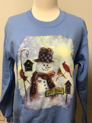 Bird Lover Snowman Sweatshirt