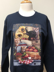 Apples Berries & Cat Sweatshirt
