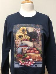 Apples Berries & Cat Sweatshirt