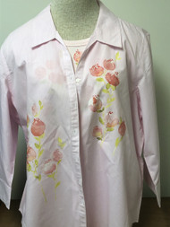 Peach Flowers 3/4 Sleeve Shirt