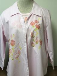 Peach Flowers 3/4 Sleeve Shirt