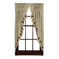 Abilene Star Prairie Curtain Set of 2 63x36x18