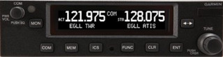 Garmin GTR 225 Standard Comm, 25kHz spacing, 10W power