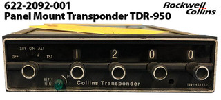Collins Panel Mount Transponder TDR-950