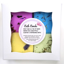 Bath Bombs Square Gift  4 Pk
