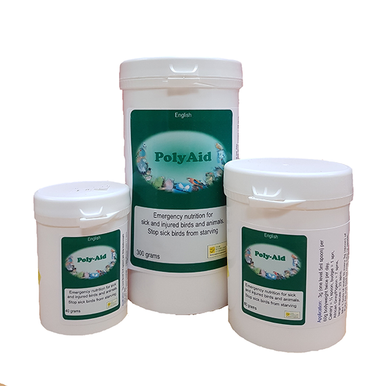 Poly-Aid acts as emergency nutrition for sick birds. Use when starvation is a concern. Easy to absorb nutrients plus digestive support and immune boosting ingredients.