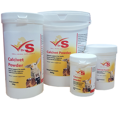 On food calcium supplement for healthy teeth and bones in small animals.  Calcium, magnesium and vitamin D3 for addition to soft foods or fresh foods.