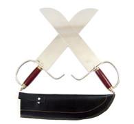 Adult Butterfly Knives w/soft case (short hooks)