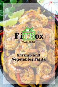 Healthy shrimp and vegetables fajita