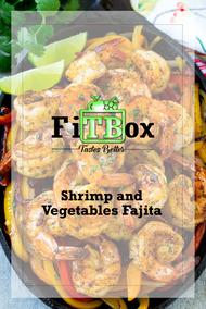 Healthy shrimp and vegetables fajita
