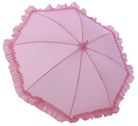 Kid's Pink Ruffle Umbrella