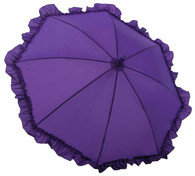 Kid's Purple Ruffle Umbrella