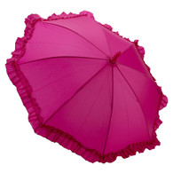 Kid's Fuchsia Ruffle Umbrella
