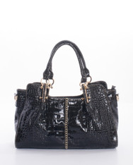 Alligator Patent Leatherette Purse