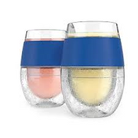 HOST® Wine FREEZE™ Cooling Wine Glasses in Blue (Set of 2)
