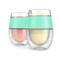 HOST® Wine FREEZE™ Cooling Wine Glasses in Mint (Set of 2)