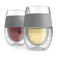 HOST® Wine FREEZE™ Cooling Wine Glasses in Grey (Set of 2)