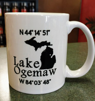 Lake Ogemaw Coordinate Mug 11 oz.