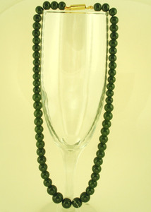 Olive green beaded necklace women jewelry
