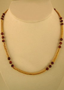 Inexpensive Costume jewelry beads necklace with goldstone beads-JCN512